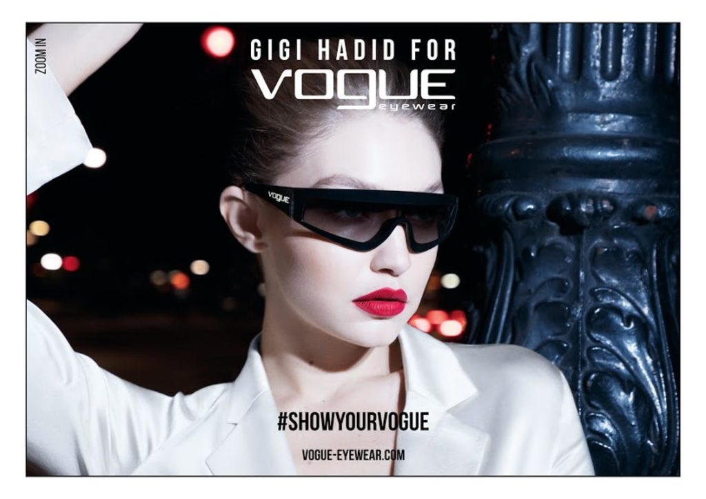 Gigi Hadidf gafas vogue medical optica