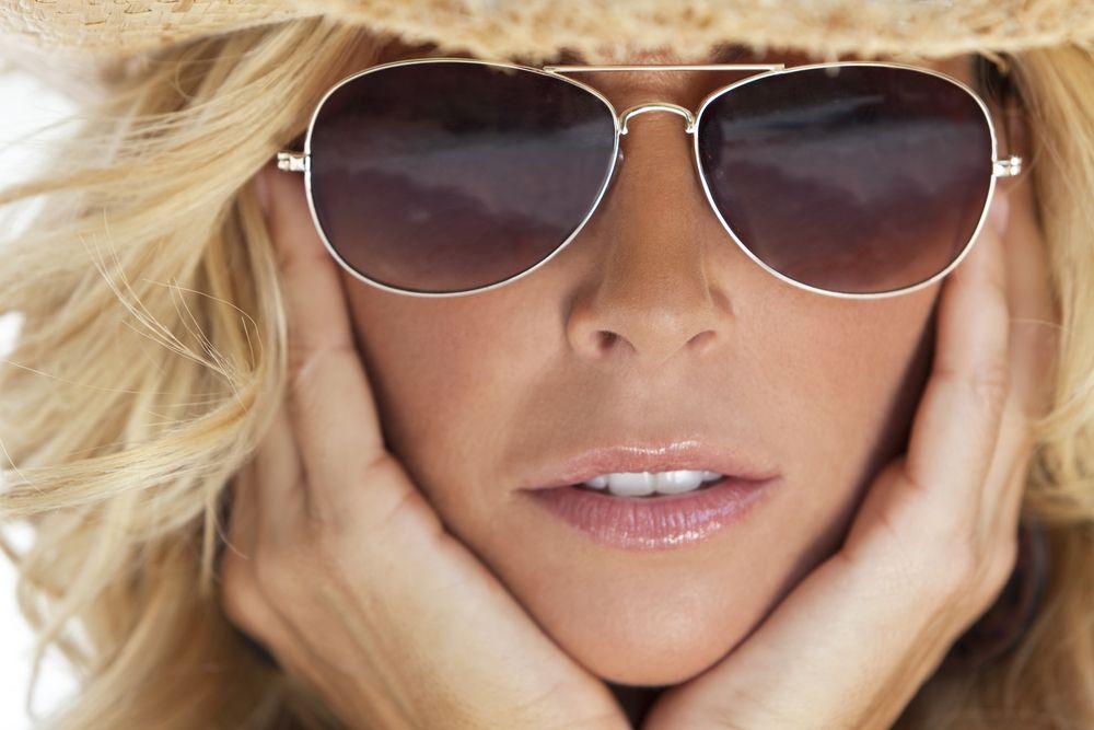 Gafas para caras con forma de diamante