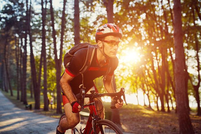 Gafas deportivas para hacer ciclismo.